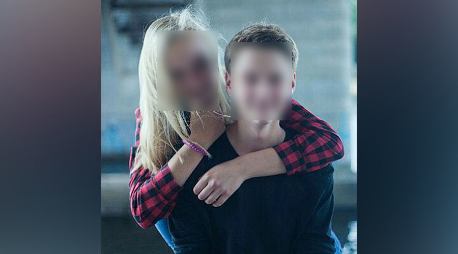 An alleged photo of the teen couple © Vkontakte