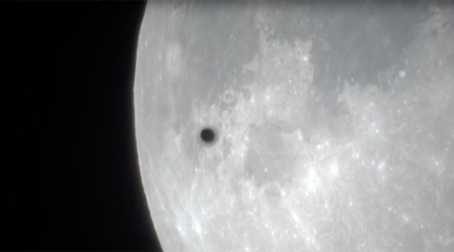 Supermoon exposes UFO-like object passing by (VIDEO)
