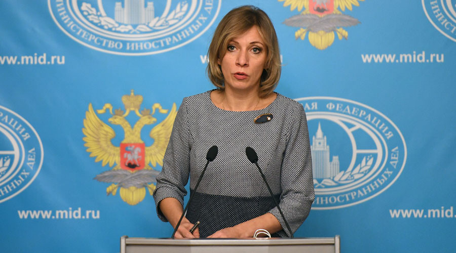 Russian Foreign Ministry Spokesperson Maria Zakharova at a briefing on current foreign policy issues © Alexander Vilf