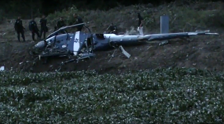 Police helicopter crash kills four in Brazil