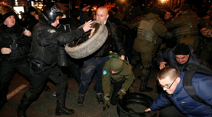 Clashes between radicals, police mar rally on 'Dignity & Freedom Day' in Kiev (VIDEO)