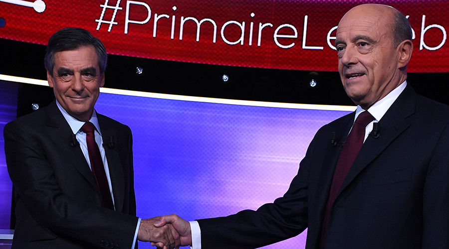 'France isn't multicultural': Flash poll finds Francois Fillon wins primary debate with Alain Juppé
