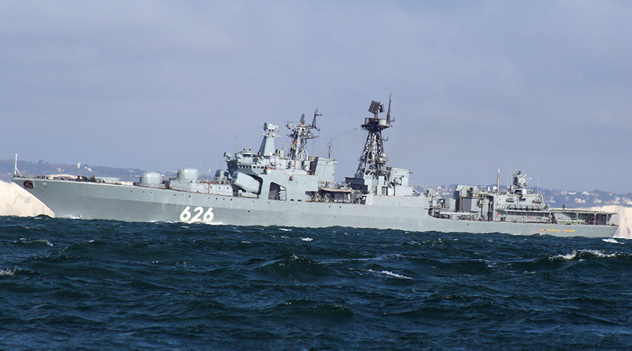 Russian military ship first to help out Ukrainian vessel in distress (VIDEO)
