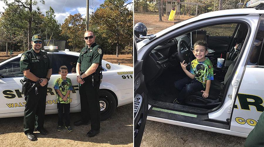 Florida boy calls 911 inviting sheriff's deputies to Thanksgiving dinner