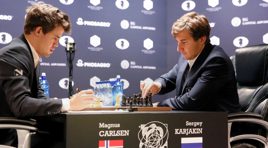 Russia's Karjakin forces world chess champ Magnus Carlsen into rapid title playoff