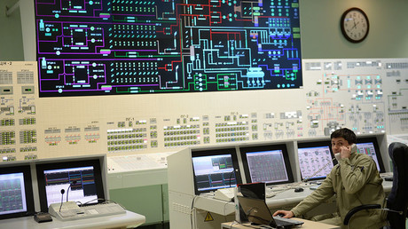 The main control panel of the fourth generating unit with a BN-800 nuclear reactor at the Beloyarskaya Nuclear Power Plant in Zarechny, Sverdlovsk Region. ©Pavel Lisitsyn