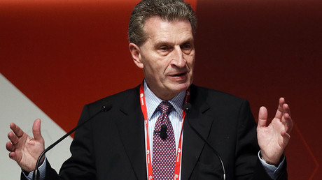 Gunther Oettinger, European Commissioner of Digital Science and Society. © Albert Gea