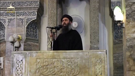 Leader of the militant Islamic State Abu Bakr al-Baghdadi © Social Media Website via Reuters TV