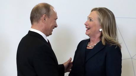 Russia's President Vladimir Putin (L) meets U.S. Secretary of State Hillary Clinton upon her arrival at the Asia-Pacific Economic Cooperation (APEC) Summit in Vladivostok September 8, 2012. © Mikhail Metzel