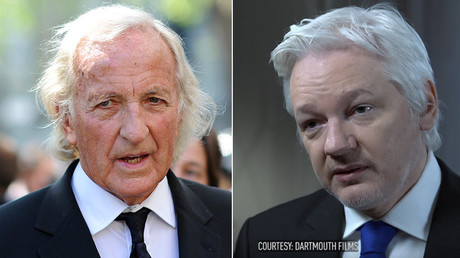 Australian journalist and documentary maker John Pilger (L) and Julian Assange, Founder and Editor-in-Chief of WikiLeaks © Reuters / Dartmouth Films