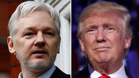 WikiLeaks founder Julian Assange (L), U.S. President-elect Donald Trump (R) © Reuters