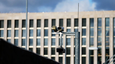 Surveillance cameras overlook the building site of the new headquarters of the Bundesnachrichtendienst (BND), Germany's Federal Intelligence Service in Berlin October © Tobias Schwarz