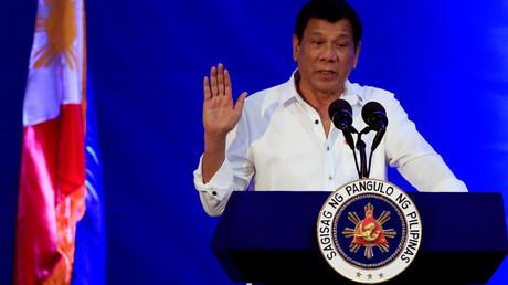 Philippine President Rodrigo Duterte © Romeo Ranoco