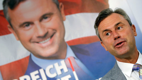 Austrian presidential candidate Norbert Hofer of the Freedom Party © Heinz-Peter Bader