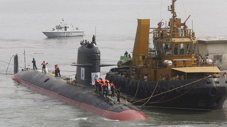 FILE PHOTO: Indian Navy's Scorpene submarine INS Kalvari © Shailesh Andrade
