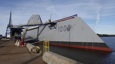 DDG 1000, the first of the U.S. Navy's Zumwalt Class of multi-mission guided missile destroyers. © Joel Page