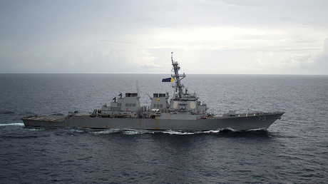 FILE PHOTO: Guided-missile destroyer USS Decatur (DDG 73) operates in the South China Sea as part of the Bonhomme Richard Expeditionary Strike Group (ESG) in the South China Sea on October 13, 2016 © Diana Quinlan