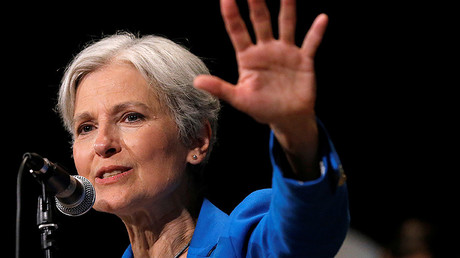 Donald Trump has said Green Party presidential candidate Jill Stein is using a recount to