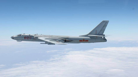 A Chinese military plane H-6 bomber © Joint Staff Office of the Defense Ministry of Japan