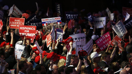 Trump supporters celebrate as election returns come in at Republican U.S. presidential nominee Donald Trump's election night rally in Manhattan, New York, U.S., November 8, 2016. © Jonathan Ernst