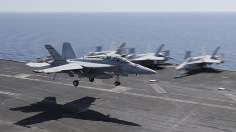 A F/A-18E/F Super Hornets of Strike Fighter Attack Squadron 211 (VFA-211) © Hamad I Mohammed