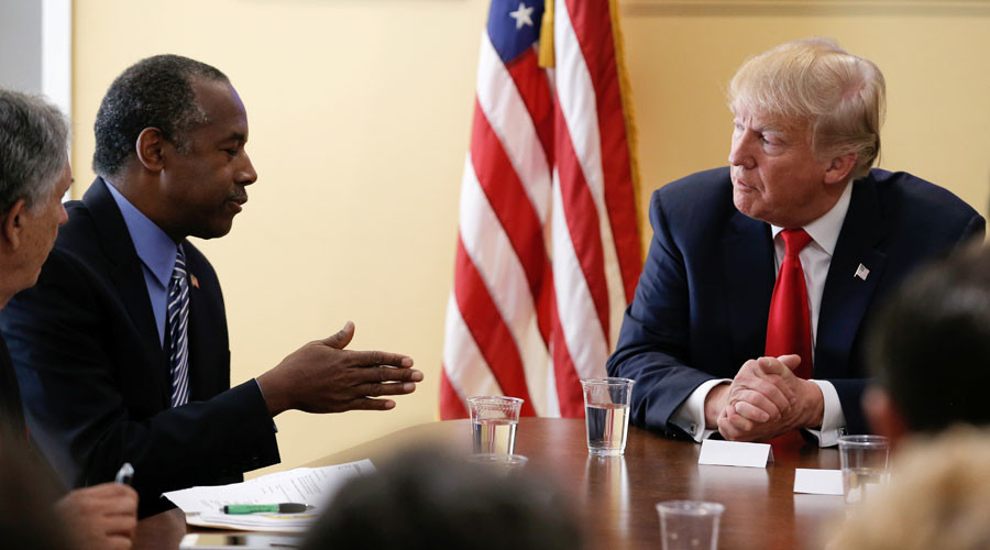 Trump names Ben Carson as housing secretary