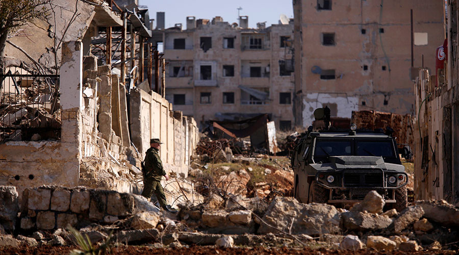 Russian military adviser dies after 'opposition' shelling in Aleppo – MoD