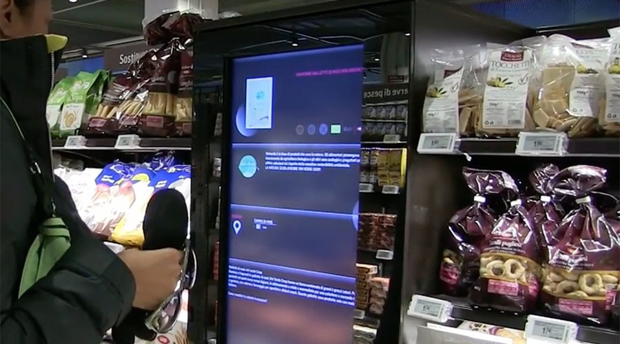 'Supermarket of the future': Italy first to make food shopping interactive