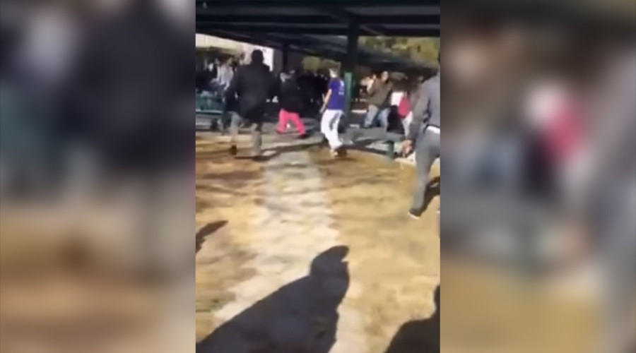 Video shows moments before school police shot student during knife incident