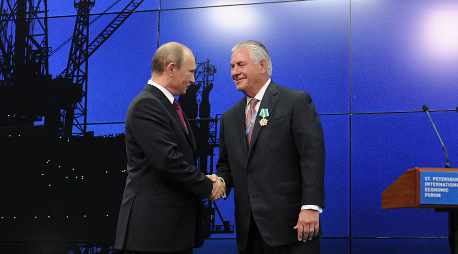 State Department frontrunner is ExxonMobil exec honored with Russian state award by Putin