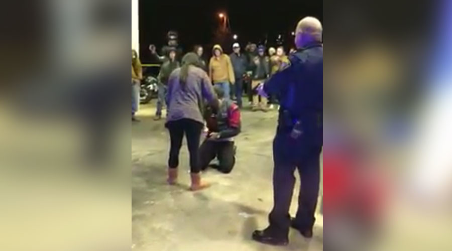'Mocking police brutality': Man stages fake standoff with cops to propose to his girlfriend