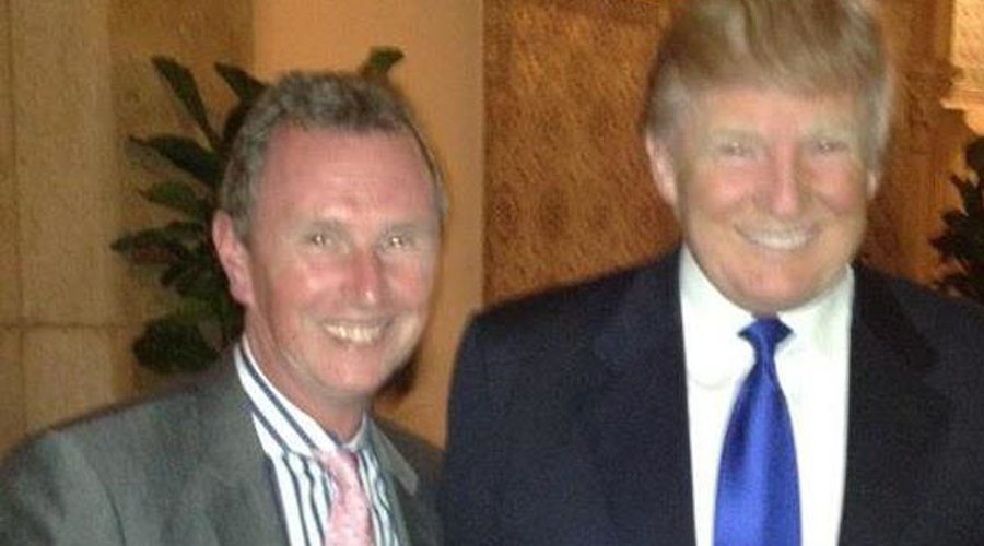 Tory MP invites mockery by putting Trump meeting photo on his Christmas card
