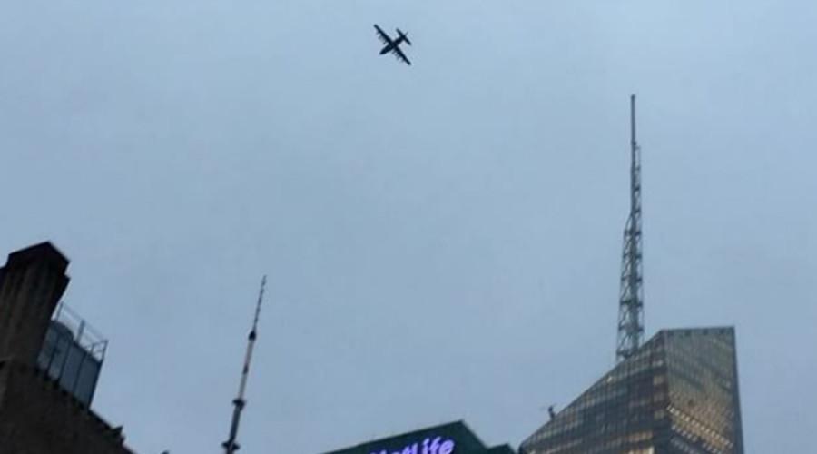 Giant plane circles Manhattan, causing confusion & fear (PHOTO, VIDEO)