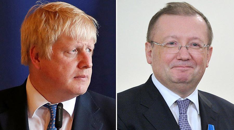 Russia's UK ambassador summoned by Boris Johnson to discuss Aleppo