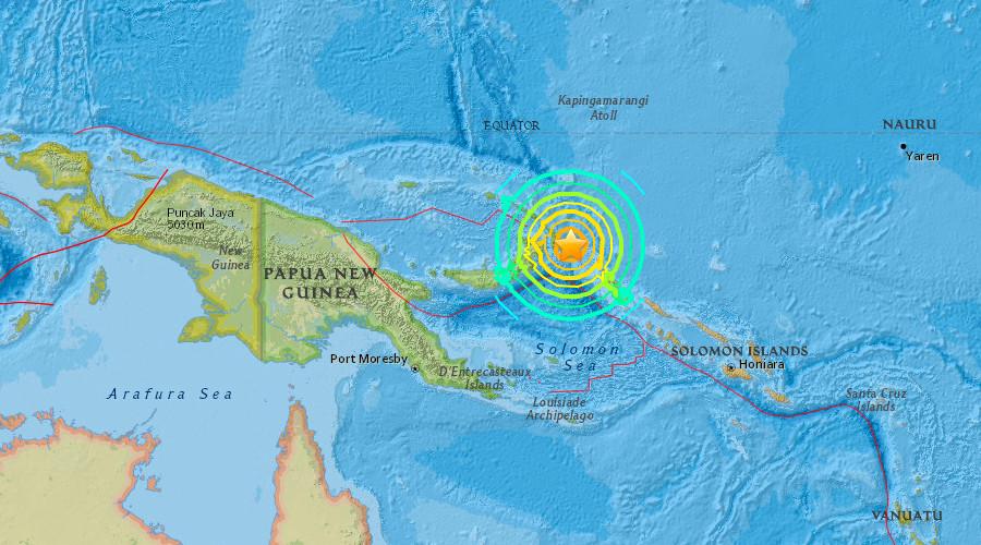 Tsunami 'threat' after 7.9 magnitude quake hits off Papua New Guinea