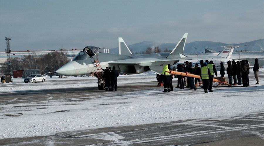 """Résultat de recherche d'images pour """"russian advanced PAK FA T-50 aircraft, 2016, 2017"""""""