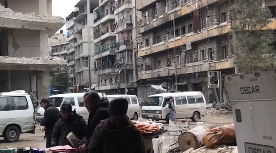 Civilians return to 'normal' life in liberated, ruined E. Aleppo (VIDEO)