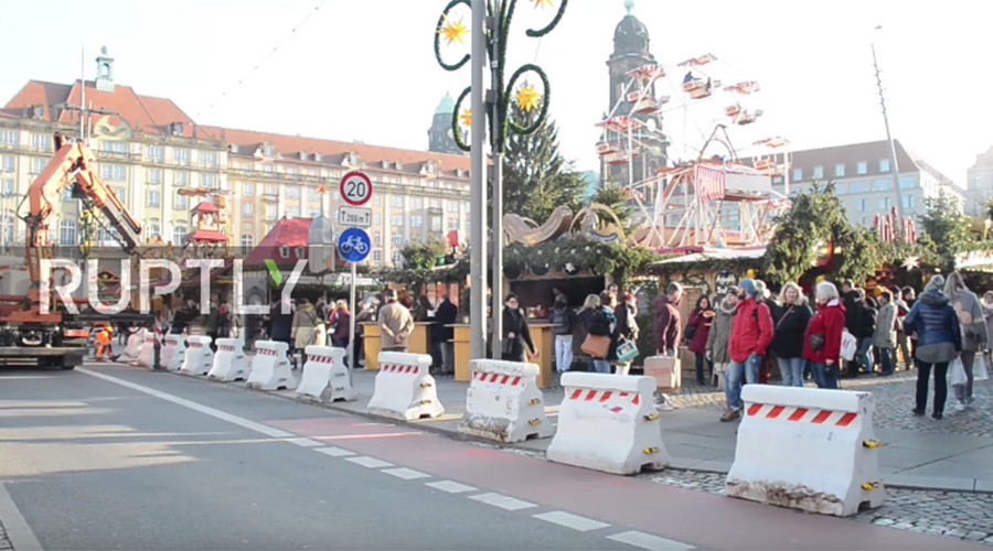 Dresden barricades Christmas market with concrete barriers after Berlin truck attack
