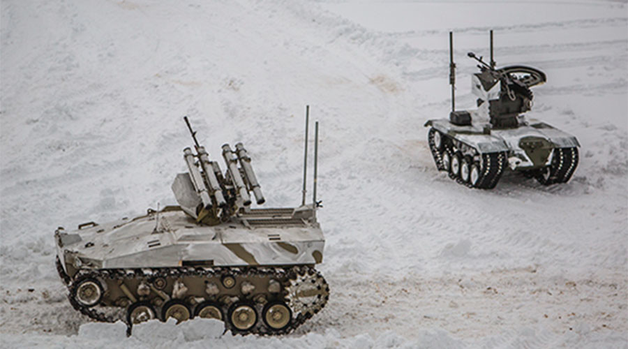 Russian 'drone tanks' take part in military drills (VIDEO)