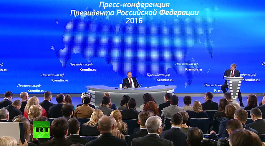 Putin's Q&A with media 2016