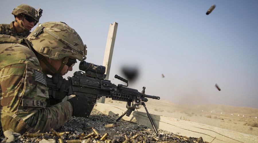 FILE PHOTO: A U.S. soldiers © Lucas Jackson