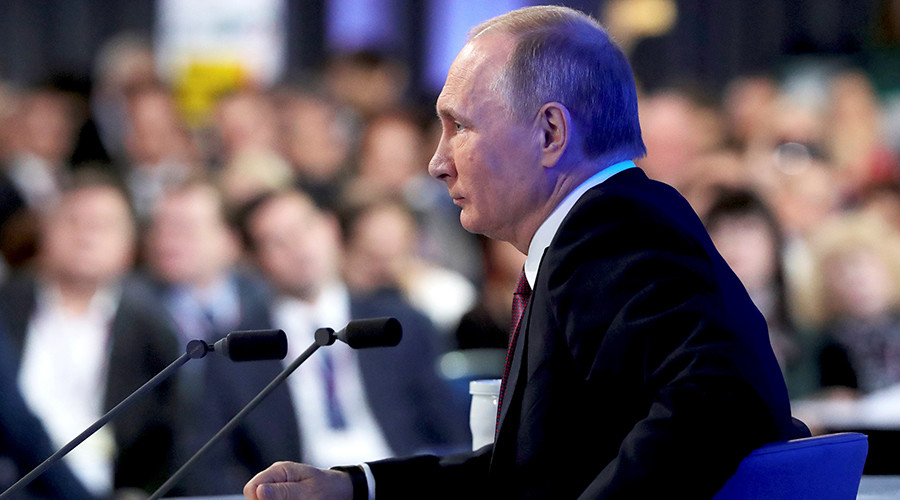 Annual Putin Q&A presser with over 1,400 reporters 'more modern than US shoebox version'