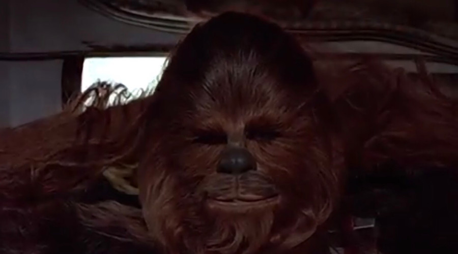 Attack of the groans: Watch Chewbacca sing 'Silent Night' (VIDEO)