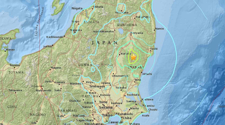 5.9 magnitude earthquake strikes Japan - USGS