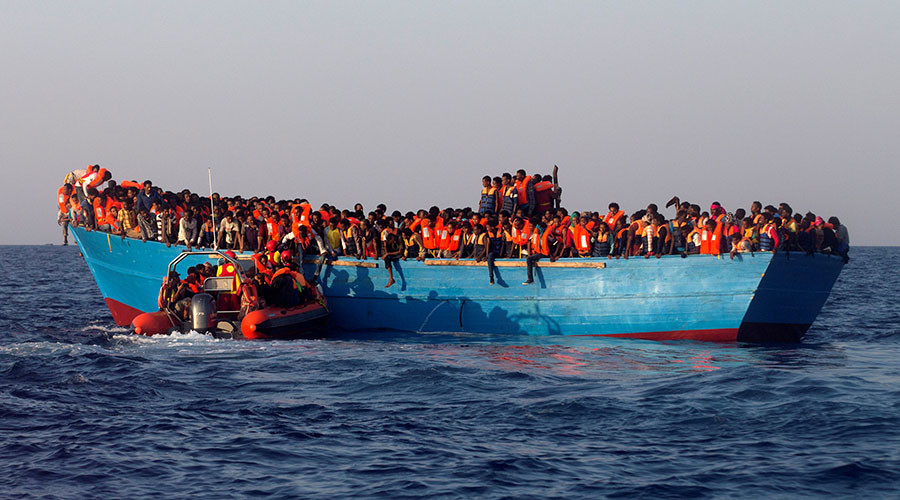 Refugee boats should be sent back to Africa, according to Bavarian allies of Merkel's party