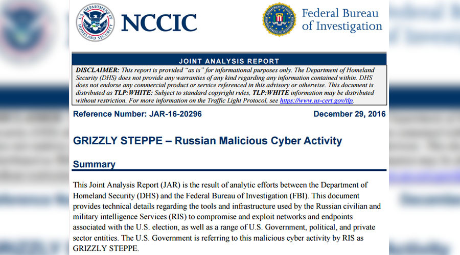 Report on 'Russian hacking' offers disclaimers, barely mentions Russia