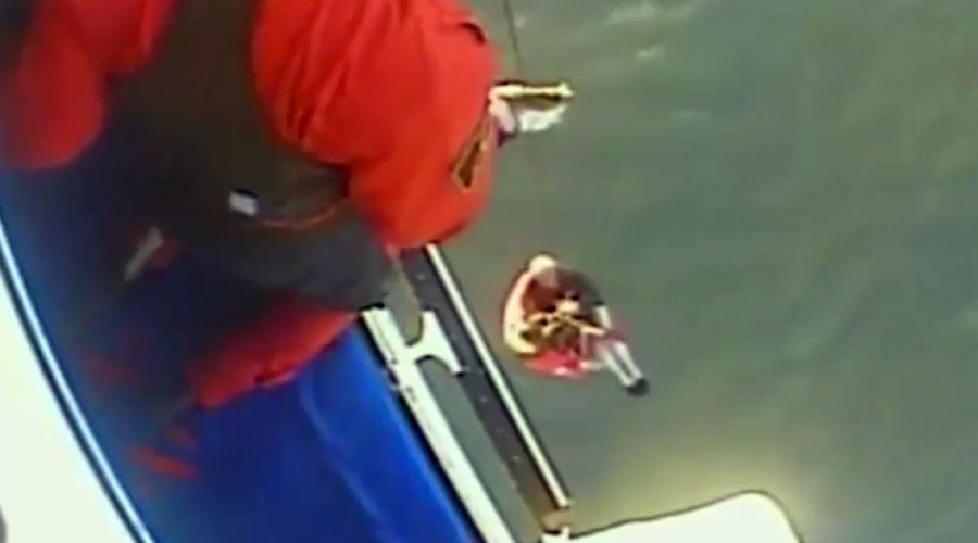 Fisherman clung to capsized boat for 11hrs, urinated on hands to keep warm