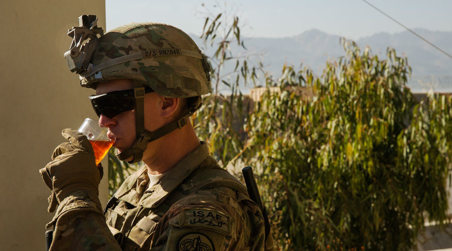 Battlefield 'beverage of choice' putting US troops at risk, says army health researcher