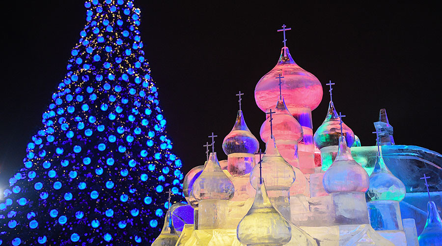 Couldn't make it to Moscow this New Year's? Check out the festivities in full 360° (VIDEO)