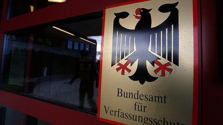 A sign of Germany's intelligence agency Verfassungsschutz © Ina Fassbender